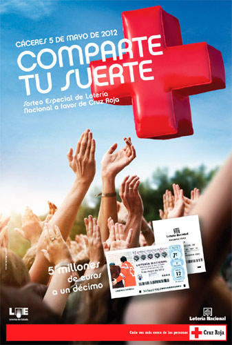 Cartel del sorteo de Cruz Roja