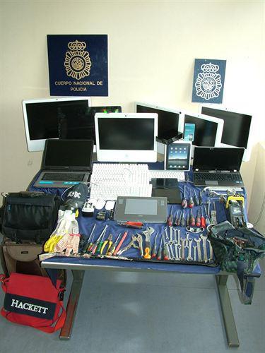 Material incautado. Fuente: Policía Nacional