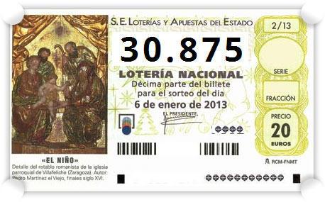 Décimo premiado Niño 2013