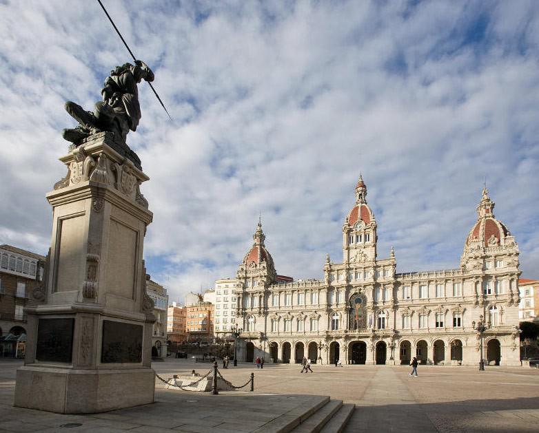 La administración 15 está situada en la plaza del Ayuntamiento de A Coruña
