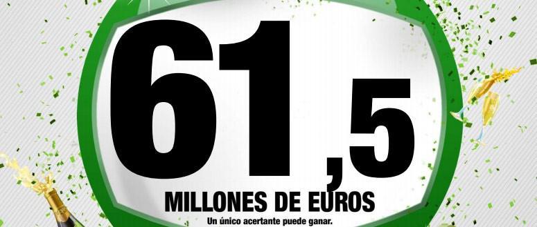Enorme bote de 61.500.000 de Euros