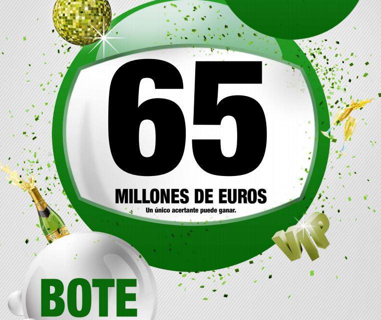 Cartel del bote de 65 millones de Euros | SELAE