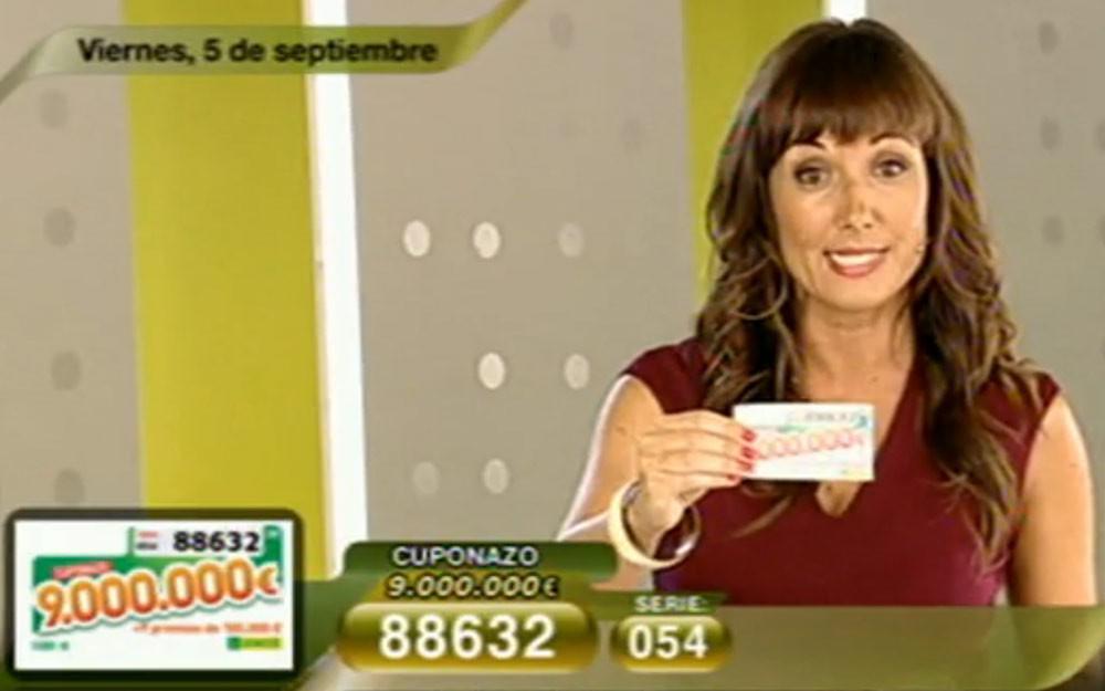 Cuponazo de 9.000.000 de Euros al número 88632 | Foto: RTVE