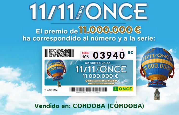 El premio ha ido este año para la ciudad de Córdoba | Foto: ONCE