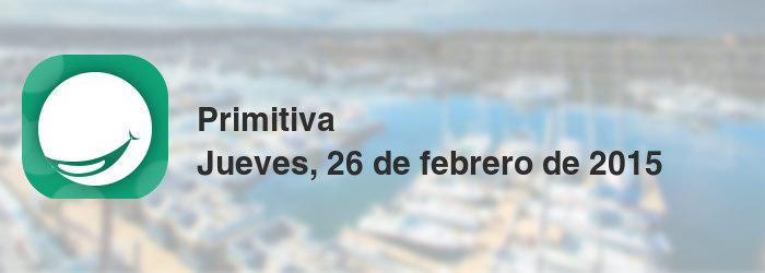 Primitiva del jueves, 26 de febrero de 2015