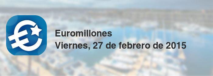 Euromillones del viernes, 27 de febrero de 2015