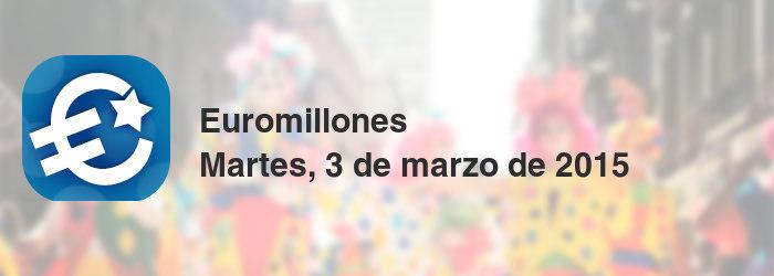 Euromillones del martes, 3 de marzo de 2015