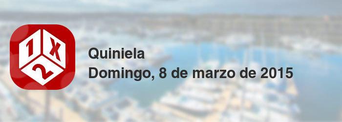Quiniela del domingo, 8 de marzo de 2015