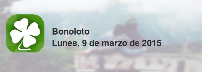 Bonoloto del lunes, 9 de marzo de 2015
