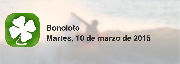 Bonoloto del martes, 10 de marzo de 2015