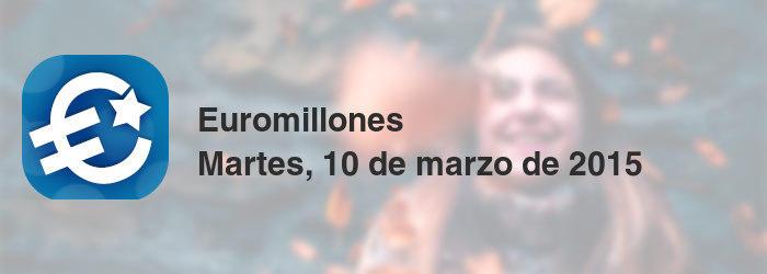 Euromillones del martes, 10 de marzo de 2015
