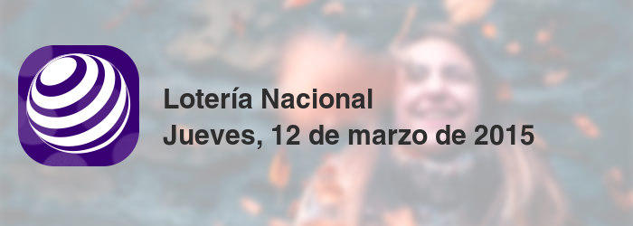 Lotería Nacional del jueves, 12 de marzo de 2015