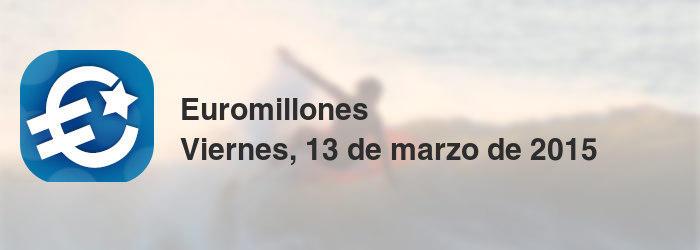 Euromillones del viernes, 13 de marzo de 2015