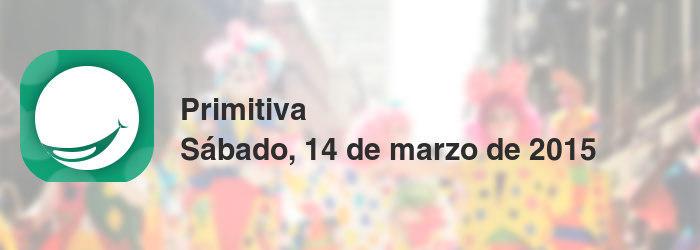 Primitiva del sábado, 14 de marzo de 2015
