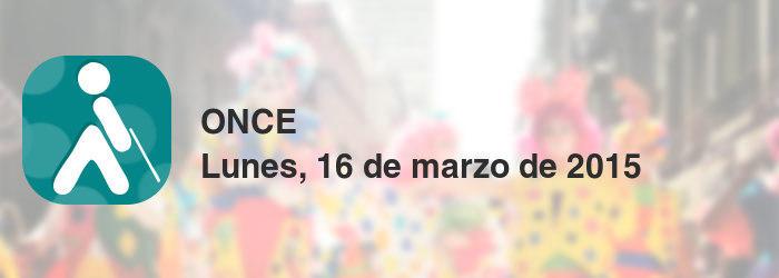 ONCE del lunes, 16 de marzo de 2015