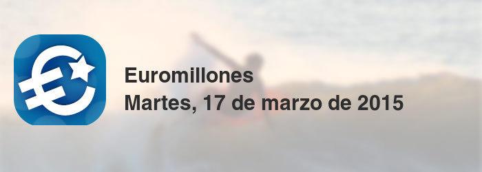 Euromillones del martes, 17 de marzo de 2015