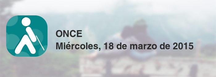 ONCE del miércoles, 18 de marzo de 2015