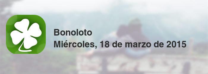 Bonoloto del miércoles, 18 de marzo de 2015