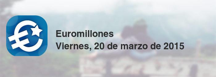 Euromillones del viernes, 20 de marzo de 2015