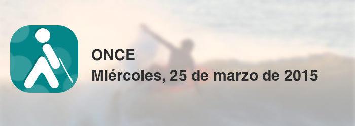 ONCE del miércoles, 25 de marzo de 2015