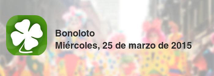 Bonoloto del miércoles, 25 de marzo de 2015