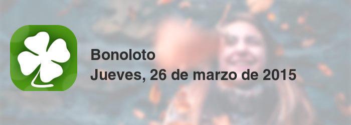 Bonoloto del jueves, 26 de marzo de 2015
