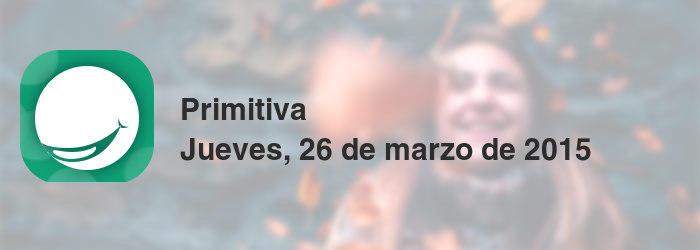 Primitiva del jueves, 26 de marzo de 2015