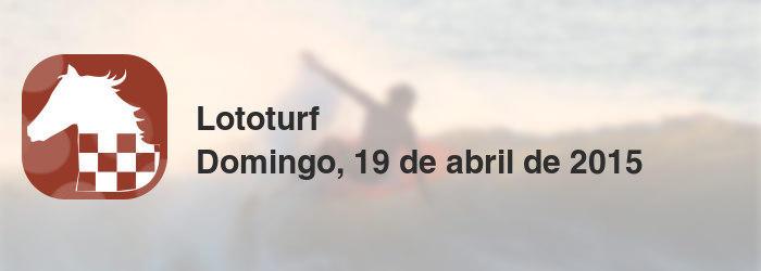 Lototurf del domingo, 19 de abril de 2015