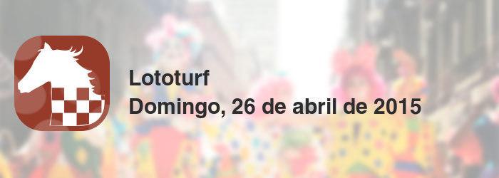 Lototurf del domingo, 26 de abril de 2015