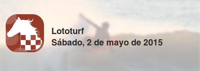 Lototurf del sábado, 2 de mayo de 2015