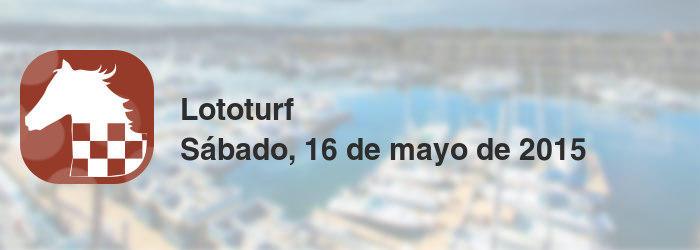 Lototurf del sábado, 16 de mayo de 2015