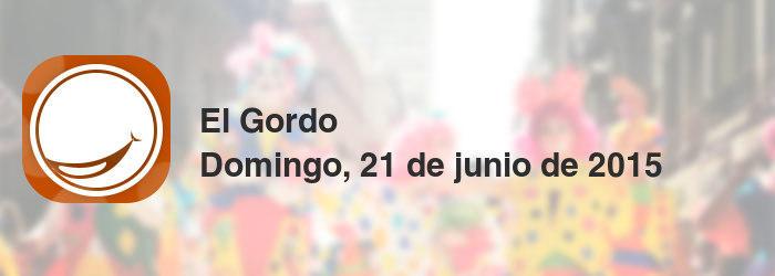 El Gordo del domingo, 21 de junio de 2015