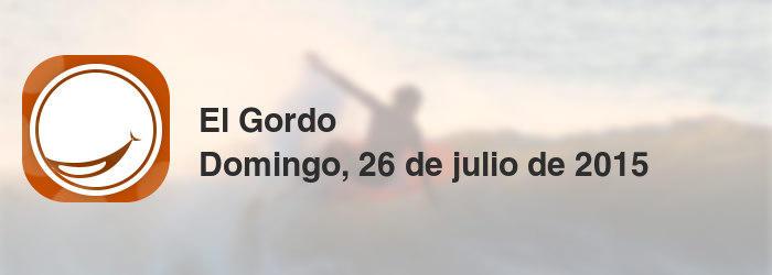 El Gordo del domingo, 26 de julio de 2015