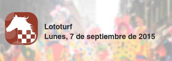 Lototurf del lunes, 7 de septiembre de 2015