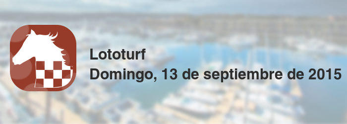 Lototurf del domingo, 13 de septiembre de 2015