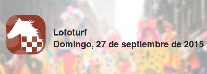 Lototurf del domingo, 27 de septiembre de 2015