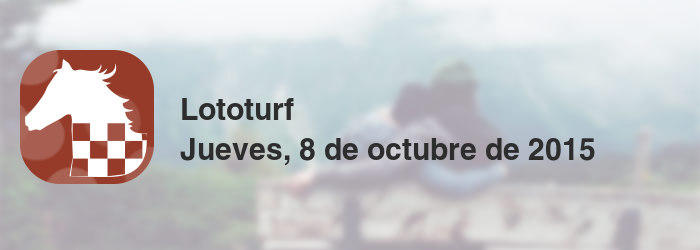 Lototurf del jueves, 8 de octubre de 2015