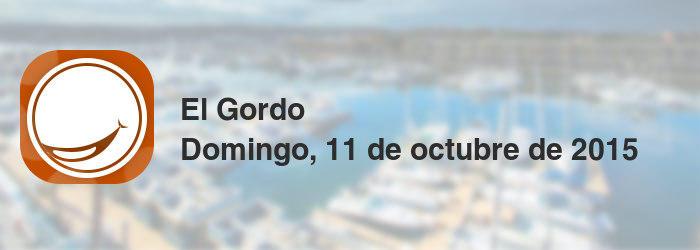 El Gordo del domingo, 11 de octubre de 2015