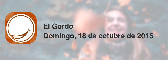 El Gordo del domingo, 18 de octubre de 2015