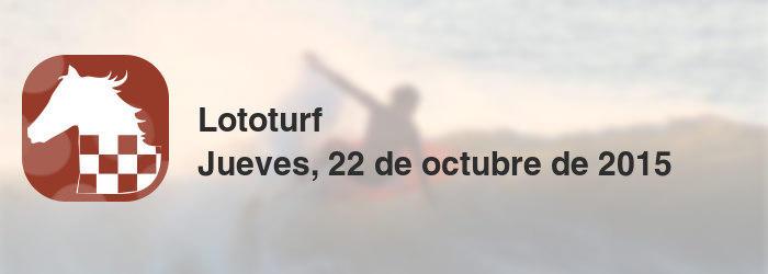 Lototurf del jueves, 22 de octubre de 2015