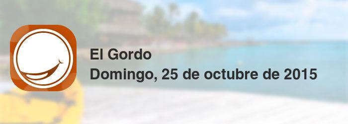 El Gordo del domingo, 25 de octubre de 2015