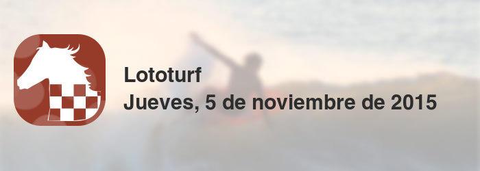 Lototurf del jueves, 5 de noviembre de 2015