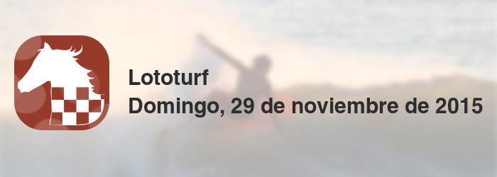 Lototurf del domingo, 29 de noviembre de 2015