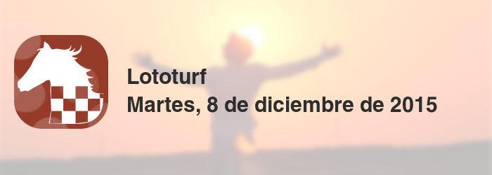 Lototurf del martes, 8 de diciembre de 2015