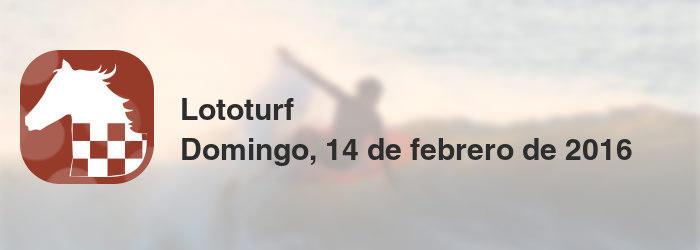 Lototurf del domingo, 14 de febrero de 2016