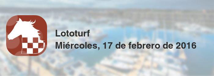 Lototurf del miércoles, 17 de febrero de 2016