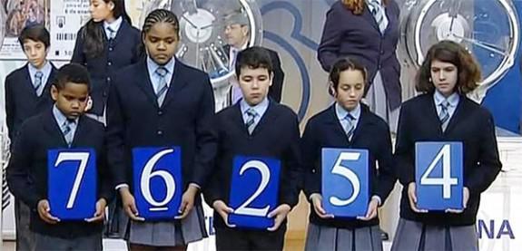 Primer premio: 76254