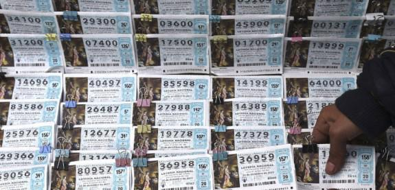 Grupo de décimos de lotería