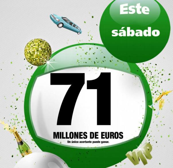 El bote aumenta hasta los 71 millones de euros | Foto: cartel de LAE