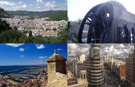Ubrique (Cádiz), noria en Alcantarilla (Murcia), Alicante y Madrid